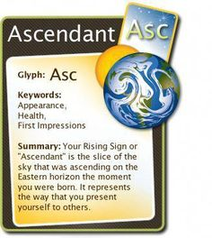 The Ascendant in astrology. Keywords and summary. #astrology #ascendant #numerologychart