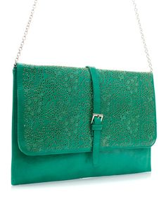 Paris Green Laser Cut Clutch | Awesome Selection of Chic Fashion Jewelry | Emma Stine Limited