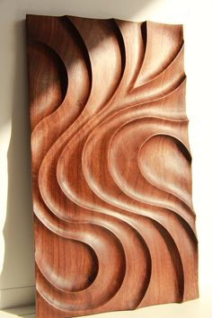 Black walnut decorative panel by TwinswoodStudio on Etsy