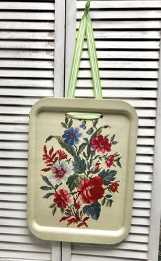 Excited to share the latest addition to my #etsy shop: Vintage metal tray, vintage floral tray, tray memo board, vintage tray up cycled magnetic board, shabby chic memo board,farmhouse memo board #office #birthday #christmas #metaltray #vintagetray #floraltray