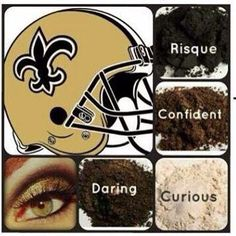 FOOTBALL season is HERE! Grab your AMAZING 3D Mascara and pair it with your team colors and be YOUR team FANATIC! Make ALL of your football party guests jealous of your long lashes and killer team eye pigments! Get em now and be ready for the games! #Saints