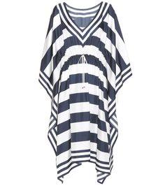 DOLCE & GABBANA Striped Silk Kaftan. #dolcegabbana #cloth #dresses