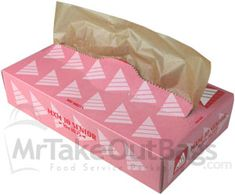 """Natural Unbleached Kraft Brown Medium Deli / Bakery Tissue 10 x 10.75"""" 