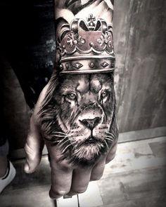 tattoos for men, hand lion tattoo, lion tattoo on hand, hand tattoo - My list of best tattoo models Dope Tattoos, Leo Tattoos, Badass Tattoos, Trendy Tattoos, Animal Tattoos, Unique Tattoos, Body Art Tattoos, Girl Tattoos, Tattos