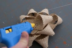 For the Love...: I {heart} gift wrap guest post: DIY burlap gift bows