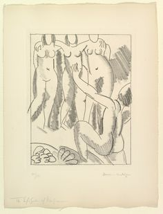'The Episode of Nausicaa' (one of six etchings illustrating James Joyce's Ulysses) 1935, Henri Matisse