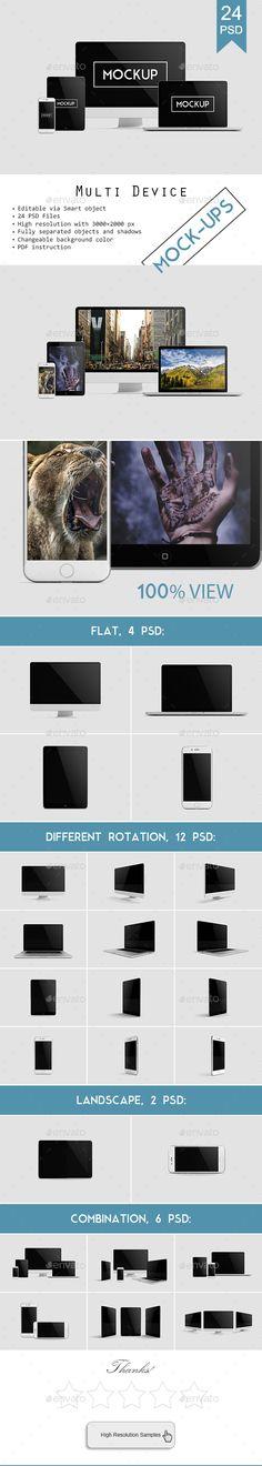 Multi Devices Responsive Website Mockup Vol. 2 #devices #web #website #responsite #theme #template #mockup #mockups #iphone #iphone7 #imac #macbook #retina #macbookretina #ipad #multidevices #design #designer #programmer #workpress #blogger