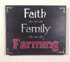 Faith Family Farming Case IH-Farmall-International 8x10 handpainted canvas