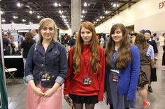 Doctor Who Cosplay, Phoenix Comicon: Rose Tyler, Amy Pond, and Clara Oswald