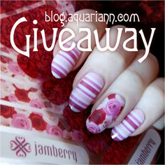 Enter @aquariann's #giveaway to #win floral #Jamberry #nailart wraps before March 3, 2016.