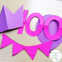 Looking for ideas to help celebrate the 100th day of school with your prekindergarten or kindergarten students? These fine motor activites are perfect for centers or rotations and provide low prep fun. Kinders will love the cutting activities, dotting fun, and the cover-up activity that focus on the number 100. Keep preschoolers busy and having fun with linking, hole punching, and letter writing tasks. Try these out during your 100th day celebration to add giggles and fun to the day. #100thDay