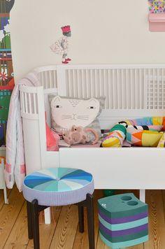 Children's room - Patchwork stool - Leizys Barslerier