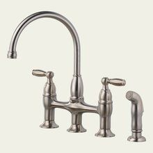 View the Delta 21966LF Dennison Double Handle Kitchen Bridge Faucet Faucet with Side Spray (Low Lead Compliant) at Build.com.