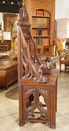 Gothic Throne Chair from France