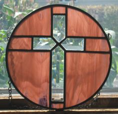 Round Beveled Cross