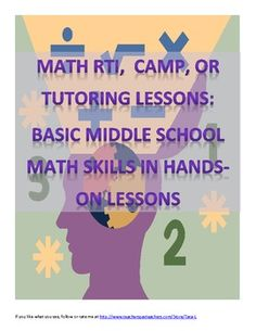 Middle School Math AIS/RTI/Review/Summer Camp Fun Lessons. $6.