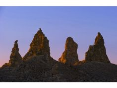 The Trona Pinnacles are actually tufa formations from a dry lake bed near Ridgecrest, Calif.