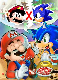 Mario and Sonic :3