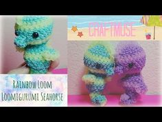 Here is a cute little loomigurumi seahorse for you guys to make he or she is super simple to make. Band count coming soon Rainbow Loom Tutorials, Rainbow Loom Patterns, Rainbow Loom Creations, Rainbow Loom Bands, Rainbow Loom Charms, Rainbow Loom Bracelets, Loom Gummis, Rubber Band Crafts, Rubber Bands