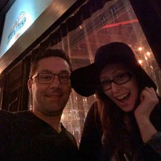Etsy Sellers, Ciera of Mikhol on the right, with Landon of PumpCases, in North Hollywood for an evening cap after a day of bargaining with our suppliers in the Garment District, Los Angeles, CA this past Friday, April 6th, 2015.