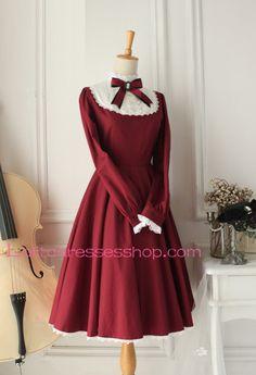 Cheap Castle Girl Wine Red Vintage Classic Lolita Dress Sale At Lolita Dresses Online Shop