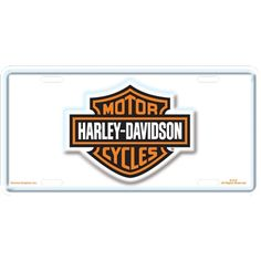 harley davidson white bs license plate