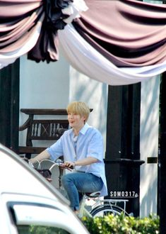 NCT Jaehyun Imagine Jaehyun riding a bike to fetch you, and you two go on a date together