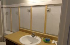 DIY with Jen and B: DIY Board and Batten Bathroom Makeover---Long Awaited I Might Add
