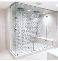 Useful Walk-in Shower Design Ideas For Smaller Bathrooms – Home Dcorz Bathroom Remodel Shower, Shower Tile, House Bathroom, Bathroom Remodel Master, Shower Stall, Bathroom Interior, Bathroom Renovations, Glass Shower Enclosures, Bathroom Shower