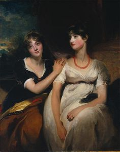 Charlotte and Sarah Hardy by Sir Thomas Lawrence 1801
