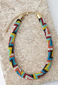 Beaded Rope Collar Necklace | Forever 21 - 1000131568