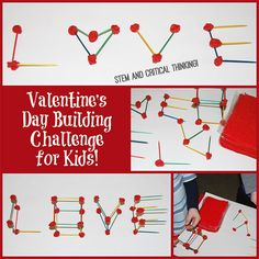 Valentine's Day STEM Building Challenge for Kids!