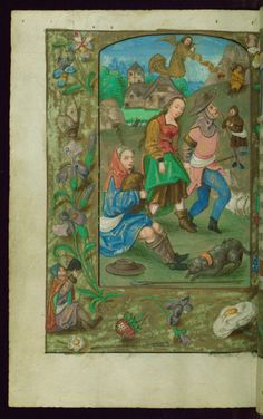 Book of Hours, Annunciation to shepherds and shepherdess, Walters Manuscript W.435, fol. 75v by Walters Art Museum Illuminated Manuscripts http://flic.kr/p/A7YWZB