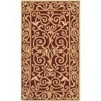 Chelsea Burgundy (Red) 3 ft. 9 in. x 5 ft. 9 in. Area Rug