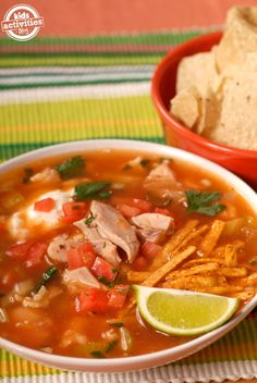 best chicken tortilla soup recipe - EVER!