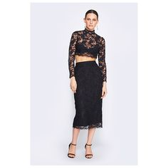 Fame&Partners Two Piece Cocktail Black Selena Lace Two Piece Dress (€200) ❤ liked on Polyvore featuring dresses, black, two piececocktaillace, 2 piece cocktail dress, evening cocktail dresses, formal evening dresses, black cocktail dresses и evening dresses