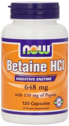 Now Foods Betaine HCl, 648 mg , 120  Capsules Now Foods http://www.amazon.com/dp/B000M4CD2C/ref=cm_sw_r_pi_dp_JCn6ub1TAXN8Y