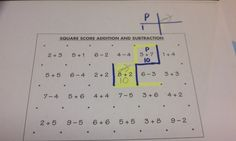 Playing squares with addition, subtraction, multiplication & division