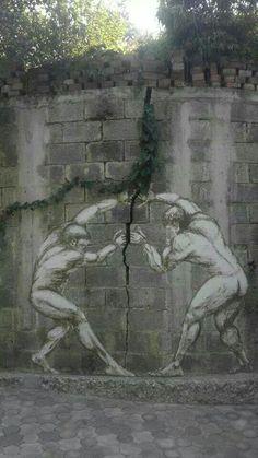 Zo los je een scheur in de muur op.