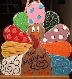 Art - paint party Thanksgiving on Pinterest | Door Hangers ...