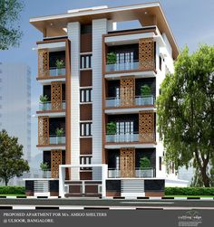 Exterior view modern houses by cutting edge architects modern Architecture Building Design, Home Building Design, Facade Design, Residential Architecture, Bungalow House Design, House Front Design, Modern Exterior House Designs, Exterior Design, Model House Plan