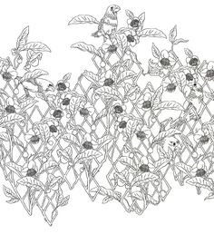 Un bout de treille inspirée par William Morris.