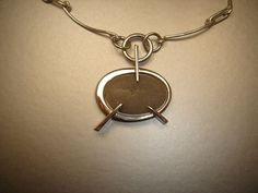 Pebble pendent in silver