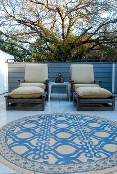My Houzz: Modern Sleekness and Serenity in Austin - transitional - patio - austin - Kara Mosher