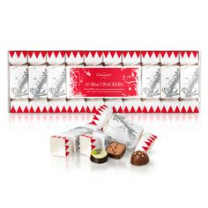 With space to write your guest's name and one of our exclusive chocolates hiding inside, our 10 Mini Christmas Crackers make deliciously stylish table settings, luxurious stocking fillers, or gorgeous decorations for your tree. Hotel Chocolate, Chocolate Treats, Delicious Chocolate, Mini Stockings, Christmas Hamper, Christmas Entertaining, Gifts Delivered, Christmas Crackers, Christmas Chocolate