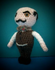 Win this Crochet Poirot!!  Like and share on my facebook page to enter - competition ends on 30th April!! www.facebook.com/snorkersimaginarium