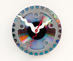Clock made from a recycled Bike cassette gear by pixelthis on Etsy.