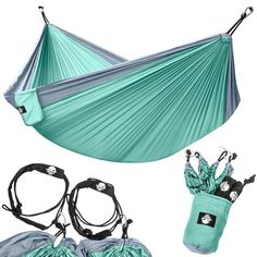 Beach Yard Travel Darod Portable Nylon Camping Hammock for Kids Lightweight Parachute Hammock Swing Bed with Heavy Duty Tree Straps for Indoor and Outdoor Backpacking Camping