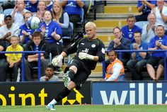 Leicester City Goalkeeper Kasper Schmeichel. Will he be as good or better than his Dad?