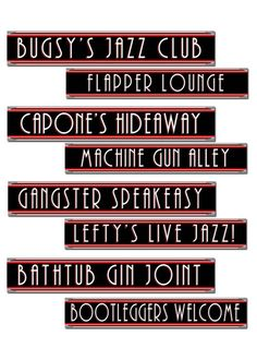 1920s Party Cut Out Sign Decorations Pk4 in Home, Furniture & DIY…